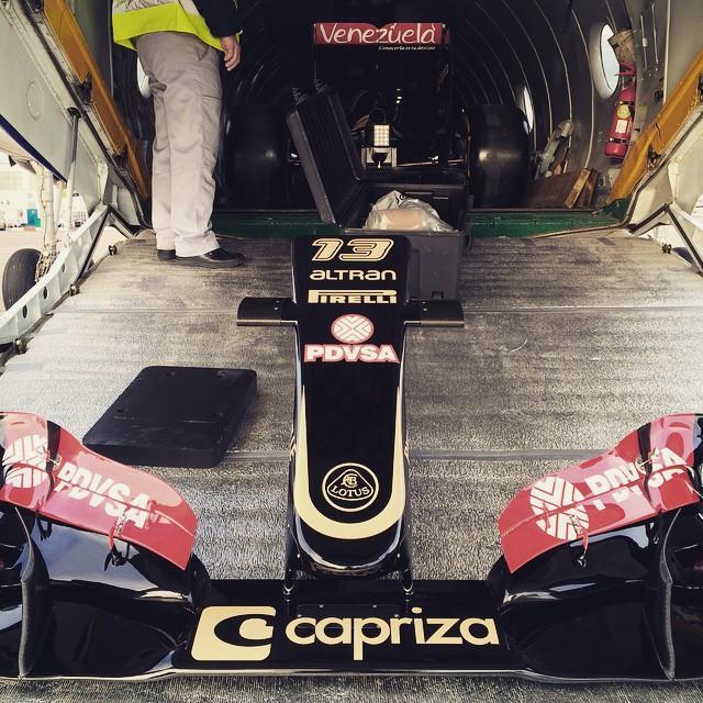 La Lotus prête à partir.